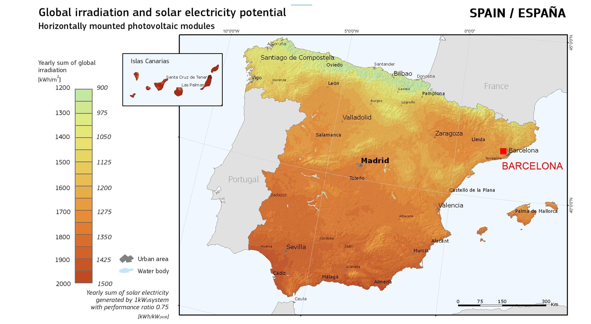 global-solar-radiation-spain